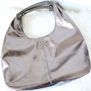 Authentic COACH Julia Metallic Pebbled Leather Bag